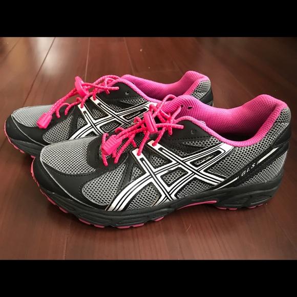 ASICS GLS Running BlackPink Shoes T28BQ Size 7.5